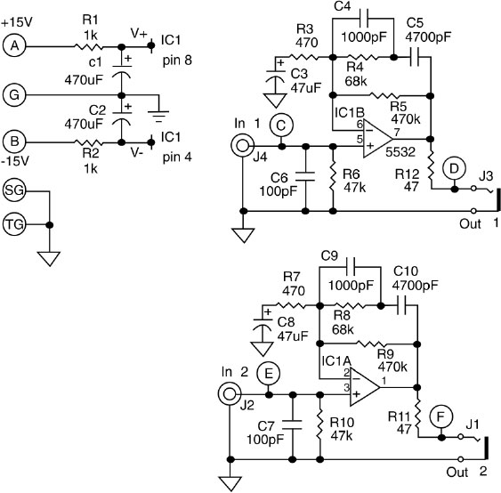 RIAA Compensated Stereo Phono Preamp Schematic
