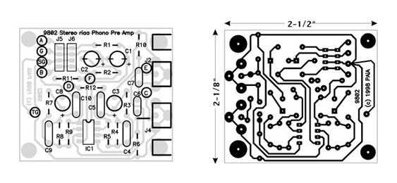 Parts are placed on the circuit board in the locations indicated. Use connections shown in phantom view as a guide for proto board wiring