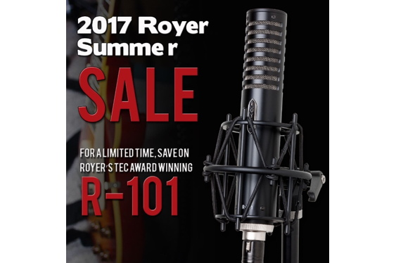 Royer's TEC Award winning R-101 ribbon microphone is on s...
