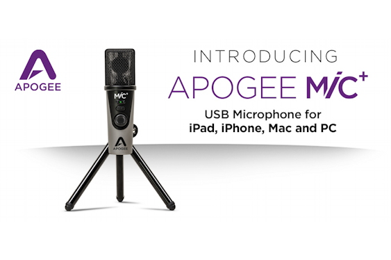Apogee has introduced the MiC Plus, a new USB microphone....