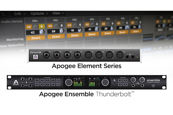 Apogee Ensemble Thunderbolt and Element Series audio inte...