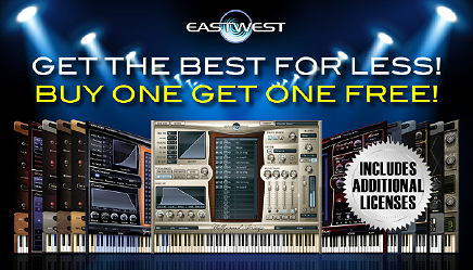 Buy the best EASTWEST products for less through June 30, ...