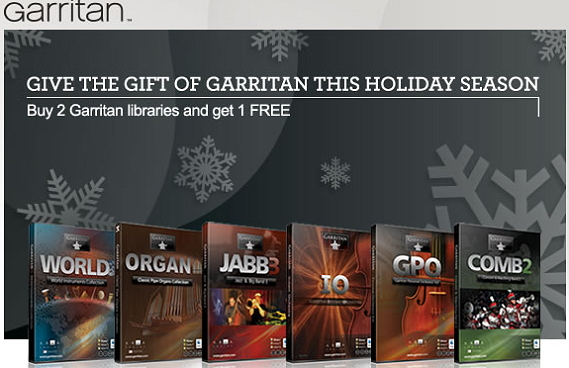Give the Gift of Garritan this Holiday season!<br />