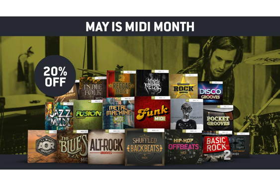 May is MIDI Month at Toontrack, where across-the-board 20...