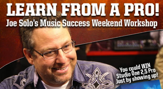 Joe Solo's Music Success Weekend Workshop. How to make it...