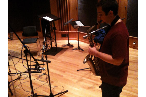 Four different mics are used to record sax from approximately the same position. Sound examples 29-32 were made this way.