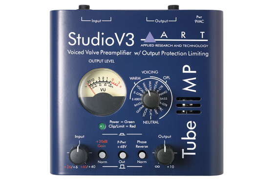 A specialized mic pre/DI can be a handy thing. This one is an ART Tube MP Studio V3.