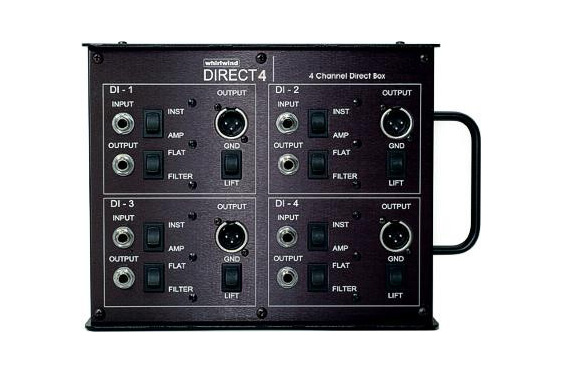 Multi-channel DIs are also very useful, especially on stage. This one is a Whirlwind Direct 4.