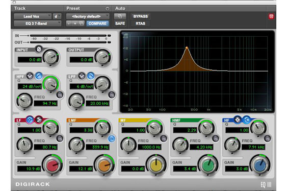 A notch filter is used to identify a frequency making the vocal track a bit dull.