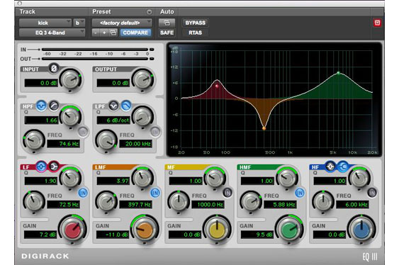 An eq to boost the low end presence, accentuate the attack and reduce muddiness of a kick.