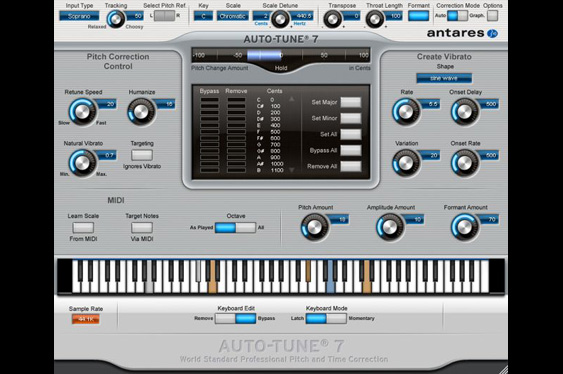 Antares Auto-Tune 7 is both a pitch and time corrector as well as a popular vocal effects processor.