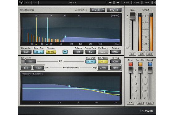 The TrueVerb reverb plug-in by Waves.