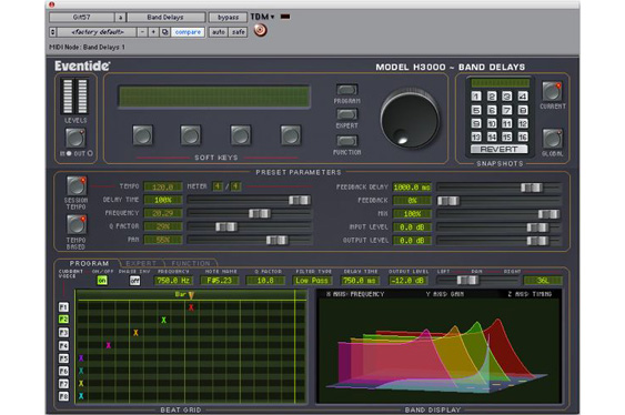 Eventide H3000 multiband delay plug-in.