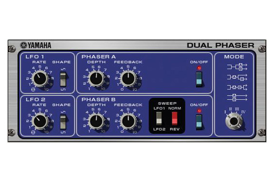 Yamaha software-based dual phaser.