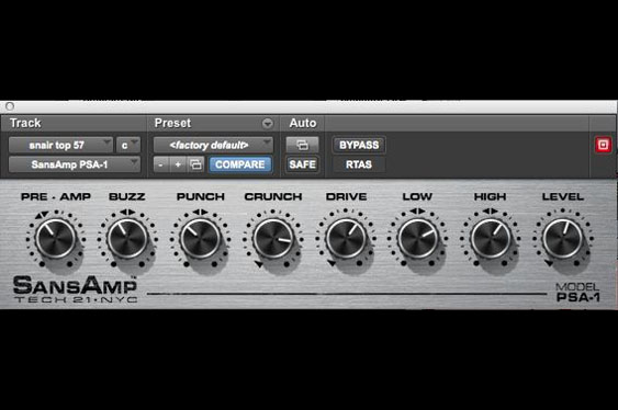 This distortion was added to the snare track to make TCRM20_26.wav.