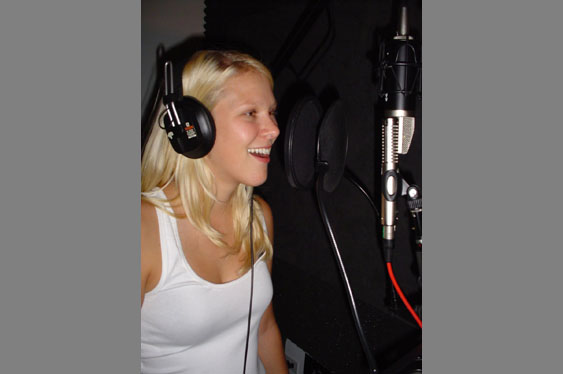 Claire Stalienbacker cutting the vocals used in audio examples 1-22.