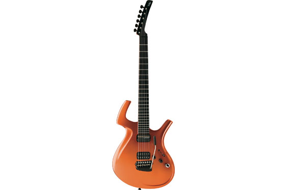 The Parker Adrian Belew electric guitar with both MIDI and built-in guitar modeling.