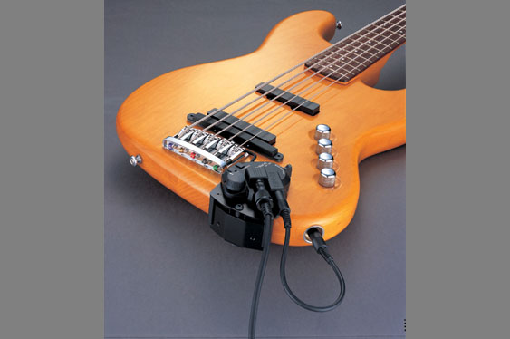 The Roland GK3B MIDI pickup for bass guitar.