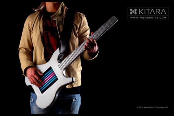 Another alternative controller modeled off of the basic guitar concept is the Kitara by MisaDigital.