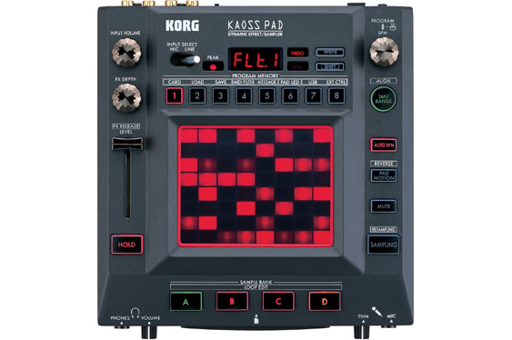 The Korg KP3 Kaoss Pad is a sampler, sequencer and effects processor.