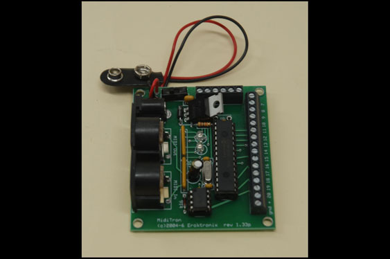 The MIDITron, by Eroktronix, is another commercially available product for interfacing sensors with MIDI devices.