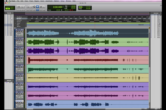 The Edit window in ProTools.