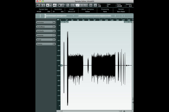 Nuendo Sample Editor.