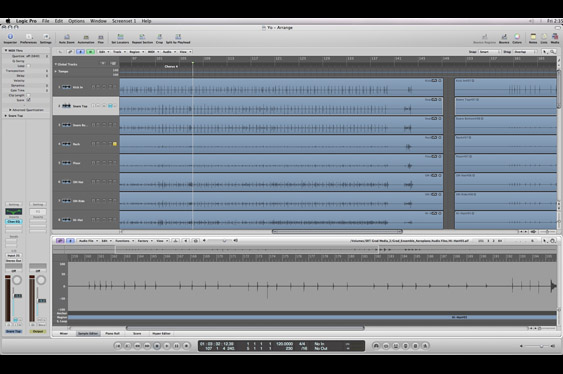 The arrange window in Logic is similar to the Edit window in ProTools.