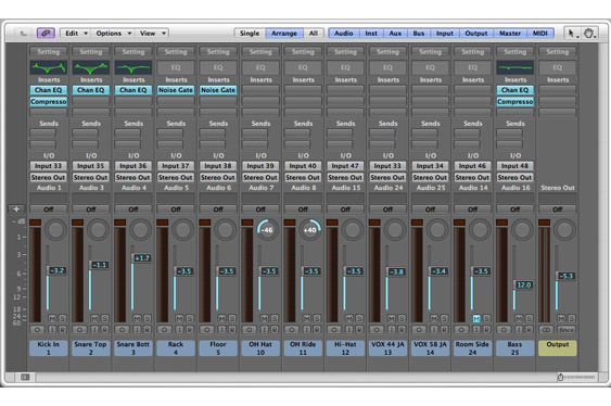 The Logic Mix window