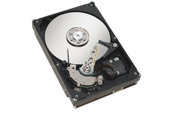 HDD mechanism. (HDD is slower than SSD but offers more storage space for your dollar)