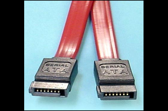 SATA cable connectors.