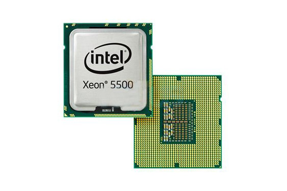 Intel Xeon 5500 CPU, front and back