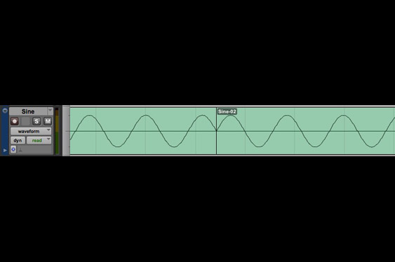 Sometimes, even following the zero-crossing rule can cause audible artifacts. Here, note how the sine waveform is interrupted and the cycle length is changed (listen to TCRM28_6.wav).