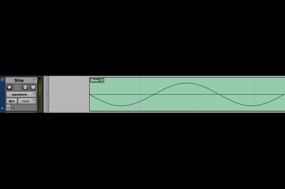 A sine with a good edit at the beginning. (listen to TCRM28_9.wav).