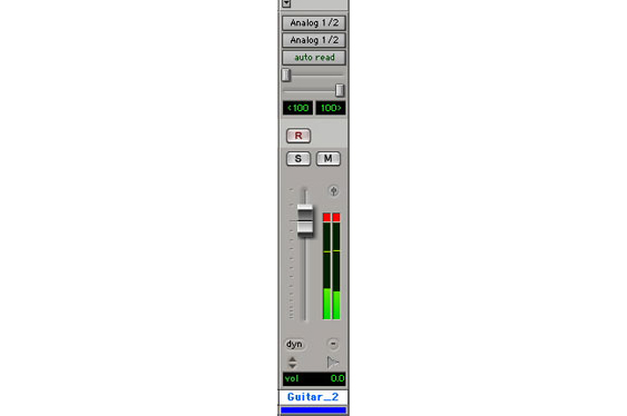 The channel metering in Pro Tools shows peak levels. It includes a peak hold bar to show the highest the signal has been, and a clip indicator.