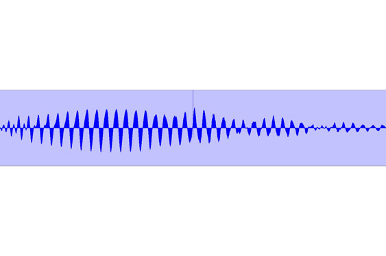 Jitter problems (esp. �clicks� which can also occur on buffer underun) are sometimes easily visible in a tracks waveform.