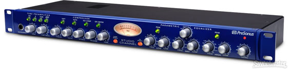 Presonus StudioChannel channel strip with VU meter
