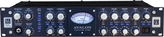 Avalon Vt 737sp channel strip with VU