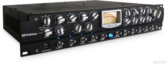 Presonus ADL700 channel strip with VU meter