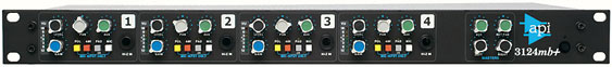 API 3124mb+ - 4 channel mic preamp/DI