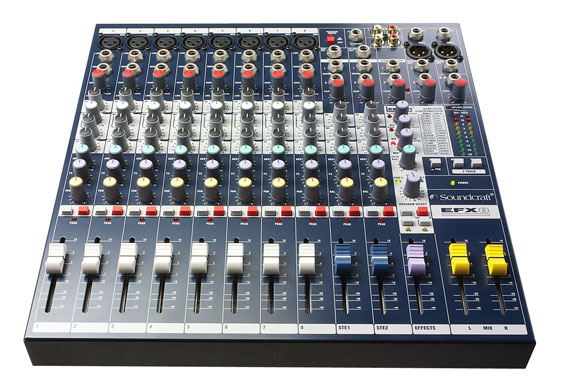 Soundcraft EFX8 mixing console w/ Lexicon effects built in