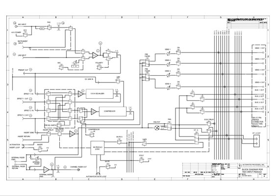 Block Diagram for api 7600 input module channel strip