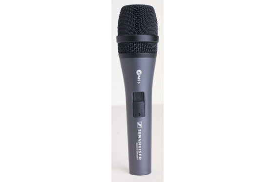 e845-S Supercardioid Dynamic Vocal Mic by Sennheiser.