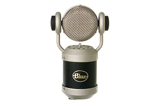 A Mouse large diaphragm condenser by Blue Microphones.