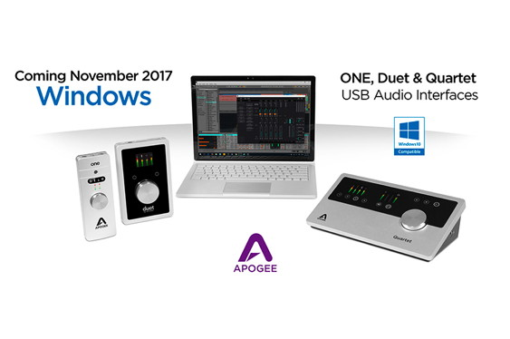 Apogee is pleased to announce Windows 10 compatibility fo...