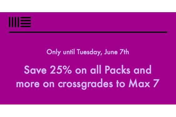 For one week only, Ableton is offering a 25% saving on al...