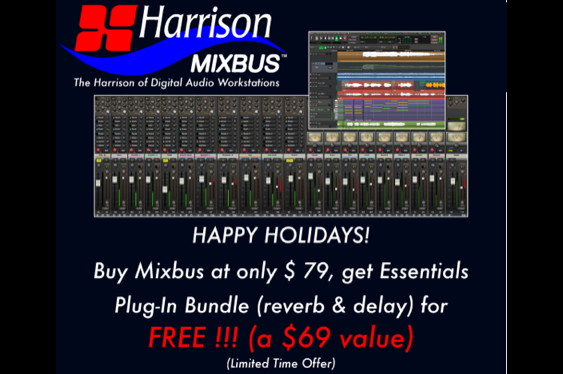 Buy Harrison's Mixbus DAW for $79 and get the Essentials ...