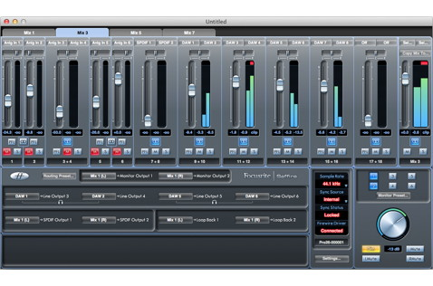 Saffire MixControl is a complete mixing and routing system for your Mac or PC.