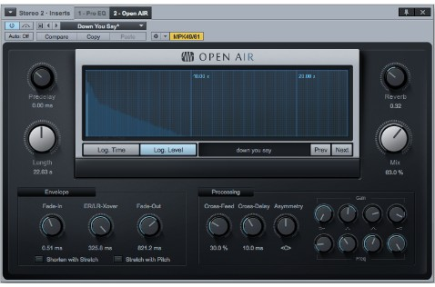 6. The OpenAIR convolution reverb.