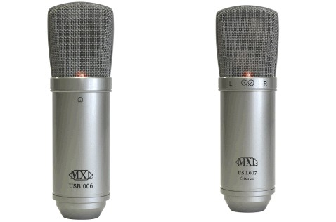 The mono and stereo MXL USB mics appear quite similar